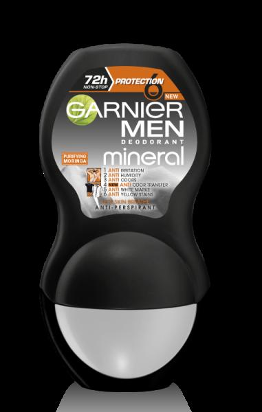 Deodorant antiperspirant roll-on Garnier Mineral Protection 6, pentru barbati 50ml 0
