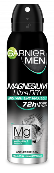 Deodorant Garnier Magnesium Ultra Dry spray pentru barbati, 150 ml [0]