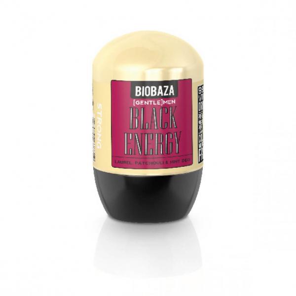SET 1+1 GRATUIT Deodorant natural barbati BLACK ENERGY (dafin si patchouli) Biobaza 50 ml 0