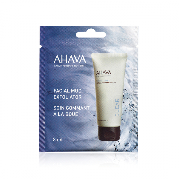 Exfoliant facial cu namol - pentru o singura folosire, Ahava, 8 ml 0