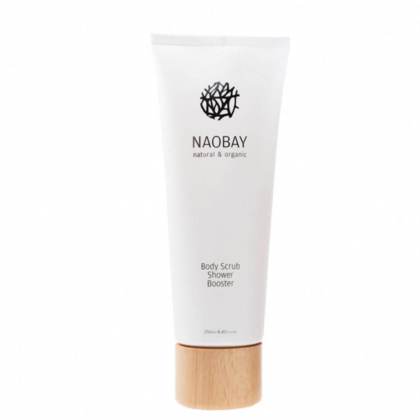 Exfoliant pentru corp BIO hidratant pe baza de sare si ulei de masline Naobay 250 ml 0