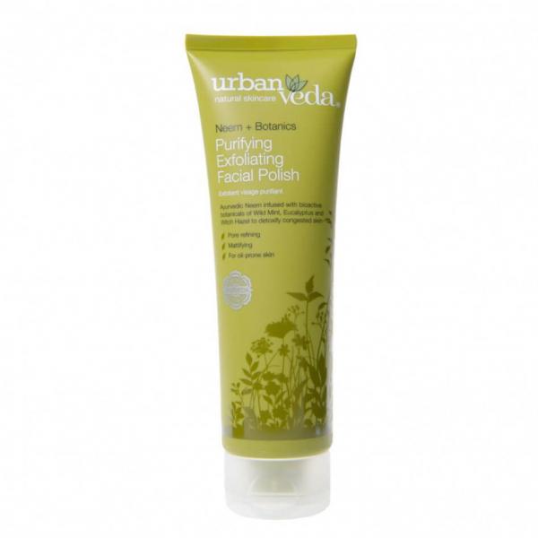 Exfoliant pentru curatare faciala cu extract de neem organic ten gras Purifying Urban Veda 125 ml 0