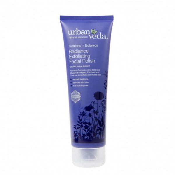 Exfoliant pentru curatare faciala cu extract de turmeric organic ten uscat Radiance Urban Veda 125 ml 0