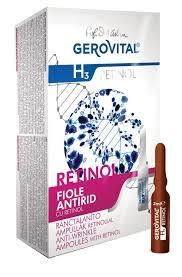 Fiole antirid Gerovital H3 cu Retinol, 10 buc x 2 ml 0