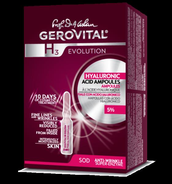 Fiole cu acid hialuronic Gerovital H3 Evolution 5%, 10 buc x 2 ml [0]