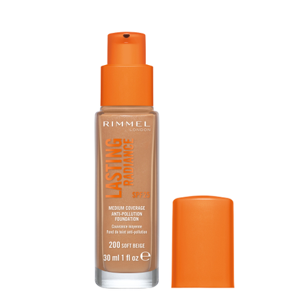 Fond de ten Rimmel Lasting Radiance, 200 Soft Beige, 30 ml 1