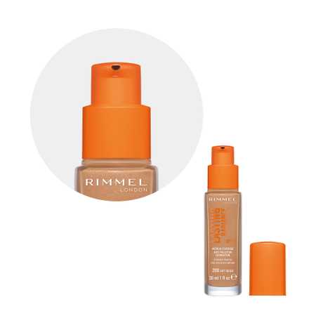 Fond de ten Rimmel Lasting Radiance, 200 Soft Beige, 30 ml 2