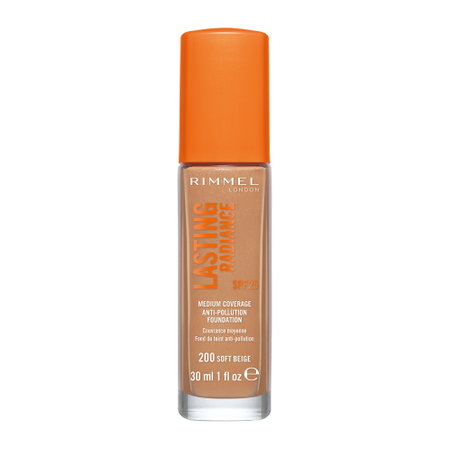 Fond de ten Rimmel Lasting Radiance, 200 Soft Beige, 30 ml 0
