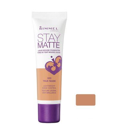 Fond de ten Rimmel London Stay Matte Liquid Mousse 303 True Nude, 30 ml 0