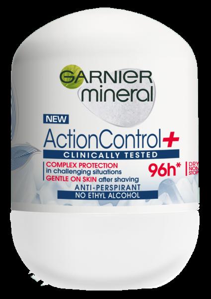 Garnier Mineral Action Control Clinically Tested Deodorant antiperspirant roll-on pentru femei, 50 ml 0