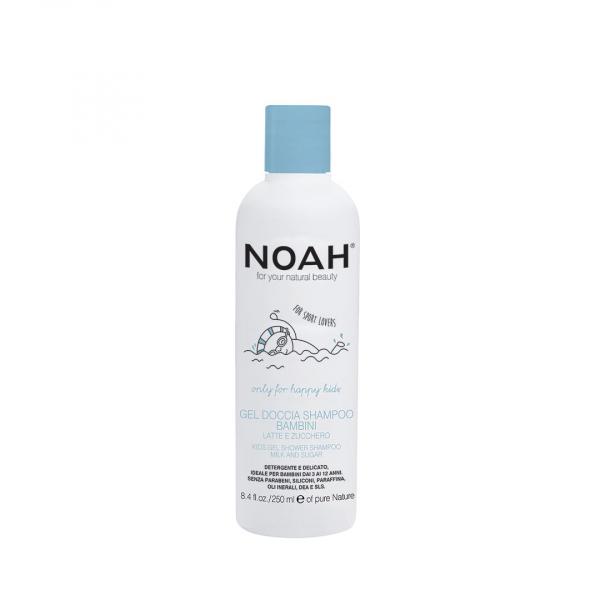 Gel de dus si sampon cu lapte & zahar pentru copii Noah 250 ml 0