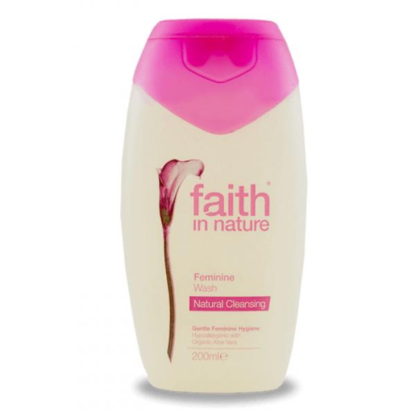 Gel intim natural, hipoalergenic, cu Aloe Vera, faith in Nature, 200ml 0