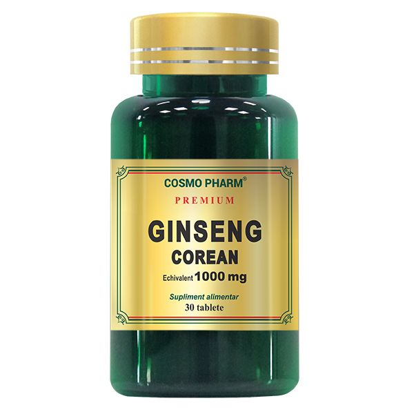 Ginseng Corean 1000mg, Cosmo Pharm, 30 tablete 0