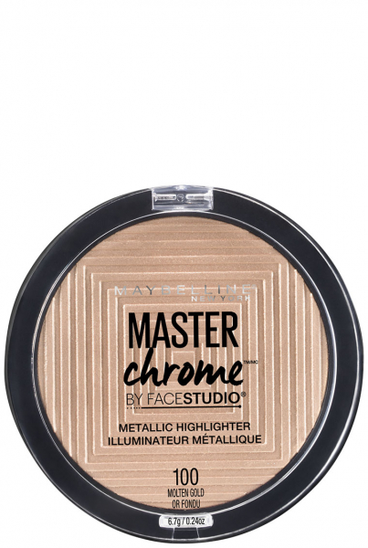 Iluminator cu reflexii metalice Maybelline New York Master Chrome 100 Molten Gold 0