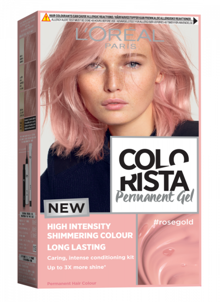 Colorista Vopsea gel permanenta 204 ml, nuanta ROSE GOLD 0