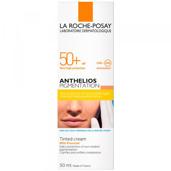 Cremă colorată anti-pete pigmentare LA ROCHE-POSAY Anthelios SPF 50+, 50ml [1]