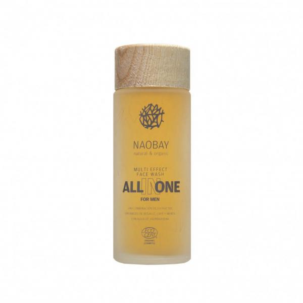Lotiune de curatare faciala BIO hidratanta cu extract de cafea pentru barbati All In One Naobay 100 ml 0
