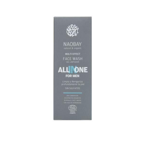 Lotiune de curatare faciala BIO hidratanta cu extract de cafea pentru barbati All In One Naobay 100 ml 2