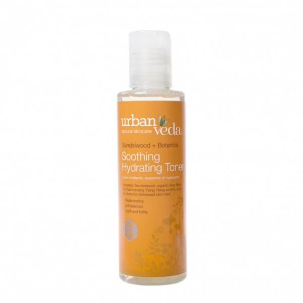 Lotiune tonica hidratanta cu extract de lemn de santal organic ten sensibil Soothing Urban Veda 150 ml 0