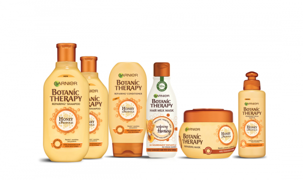 Masca reparatoare Botanic Therapy Milk Mask Honey cu textura lejera de lapte pentru par deteriorat cu varfuri despicate, 250ml [5]