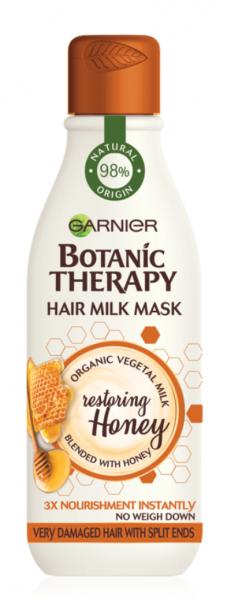 Masca reparatoare Botanic Therapy Milk Mask Honey cu textura lejera de lapte pentru par deteriorat cu varfuri despicate, 250ml 0