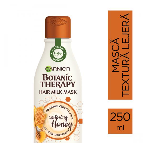 Masca reparatoare Botanic Therapy Milk Mask Honey cu textura lejera de lapte pentru par deteriorat cu varfuri despicate, 250ml 1