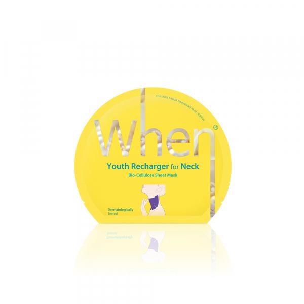 Masca coreeana regeneranta din bioceluloza WHEN, cu cocos, pentru zona gâtului, 18 ml [0]