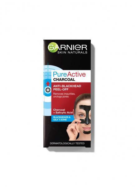 Masca de fata peel off  Garnier Pure Activ, anti puncte negre cu carbune 50ml 2