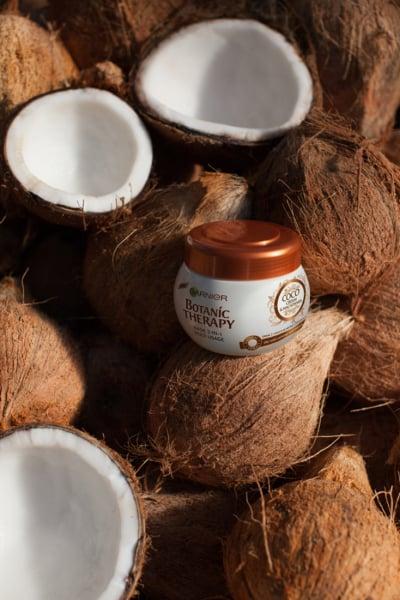 Masca de par Garnier Botanic Therapy Coco Milk & Macadamia, pentru par uscat lipsit de suplete 300 ML 5