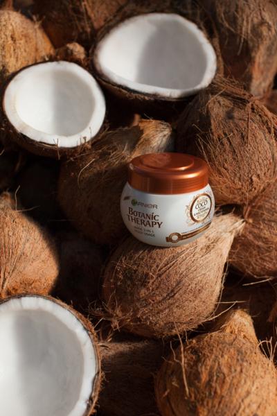 SET 1+1 GRATUIT Masca de par Garnier Botanic Therapy Coco Milk & Macadamia, pentru par uscat lipsit de suplete 300 ML 4