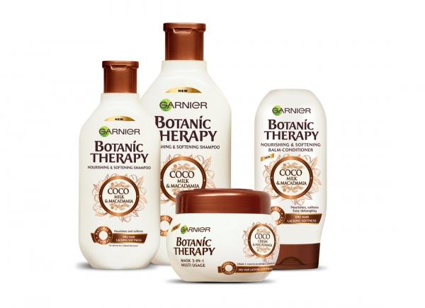 Masca de par Garnier Botanic Therapy Coco Milk & Macadamia, pentru par uscat lipsit de suplete 300 ML 1