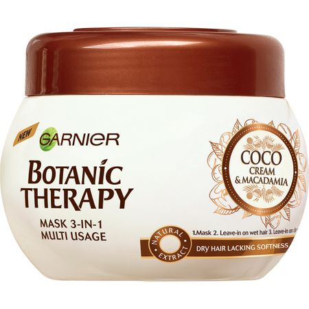 SET 1+1 GRATUIT Masca de par Garnier Botanic Therapy Coco Milk & Macadamia, pentru par uscat lipsit de suplete 300 ML 0