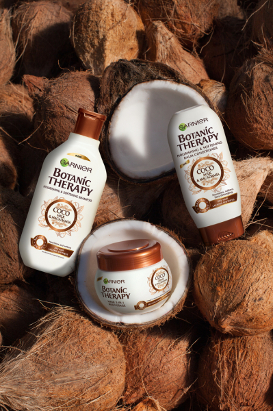 SET 1+1 GRATUIT Masca de par Garnier Botanic Therapy Coco Milk & Macadamia, pentru par uscat lipsit de suplete 300 ML 3