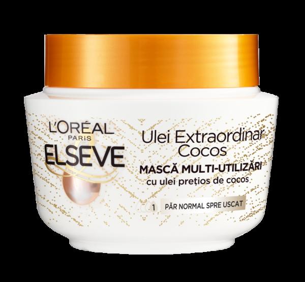 Masca pentru parul normal spre uscat Elseve Ulei Extraordinar, cu Ulei de Cocos - 300 ml 0