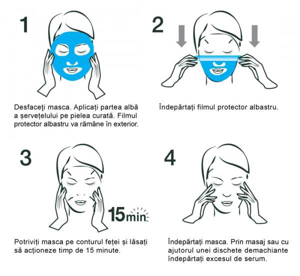 Pachet 10x Masca Servetel Garnier Moisture+ cu rodie, pentru hidratare intensa [4]