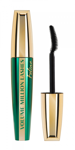 Mascara L'Oreal Paris Volume Million Lashes Feline, volum si curbare, black 0
