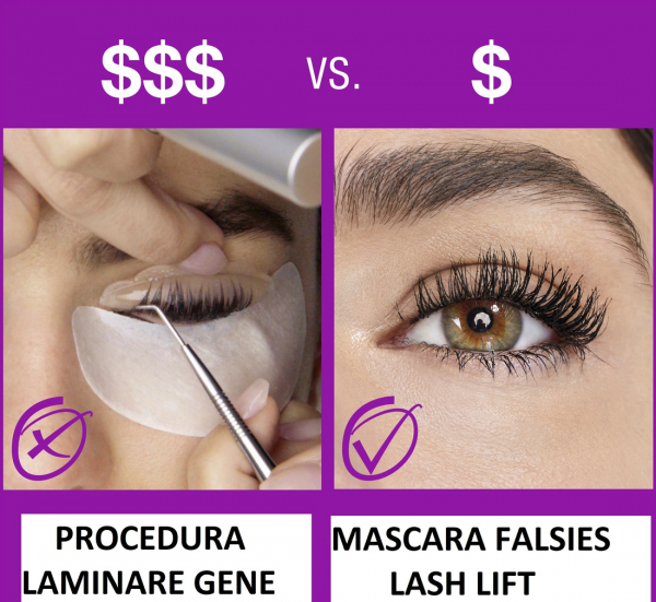 Mascara Maybelline Falsies Lash, pentru efect de gene false, black -9.6ml 2