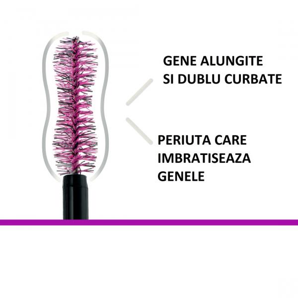 Mascara Maybelline Falsies Lash, pentru efect de gene false, black -9.6ml 3