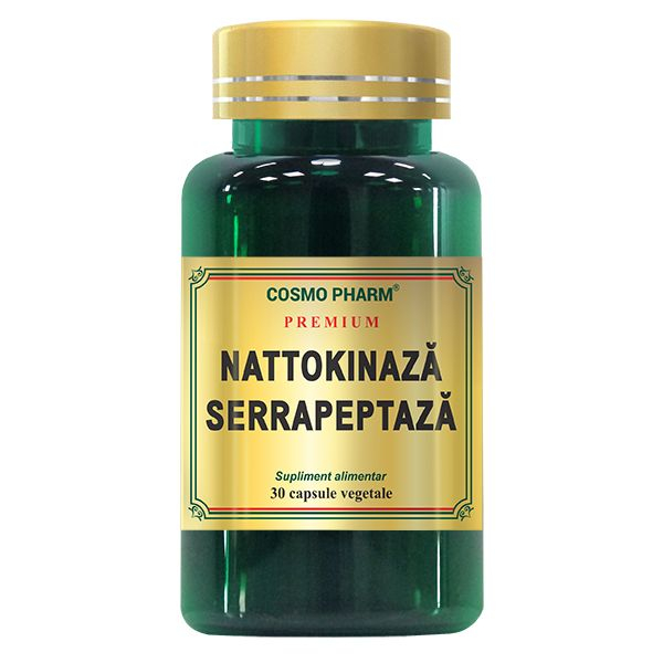 Nattokinaza Serrapeptaza, Cosmo Pharm, 30 Capsule 0