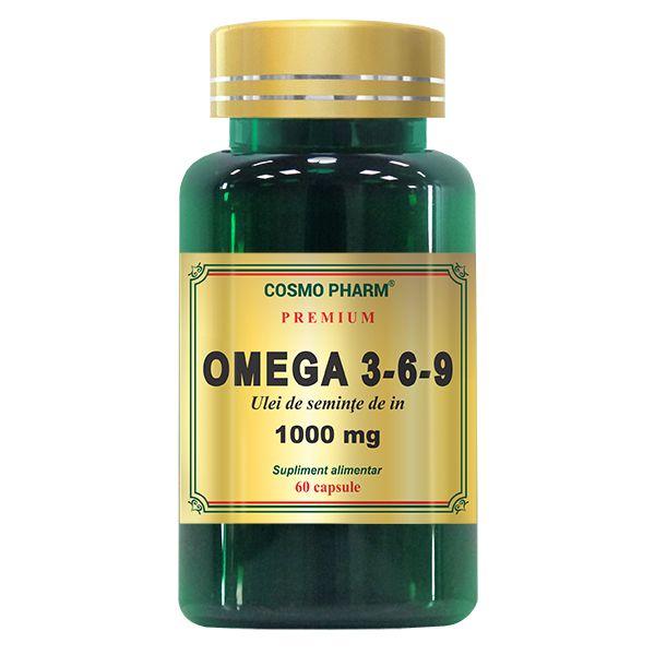 Omega 3-6-9 Ulei de seminte de in 1000 mg, Cosmo Pharm, 60 capsule 0
