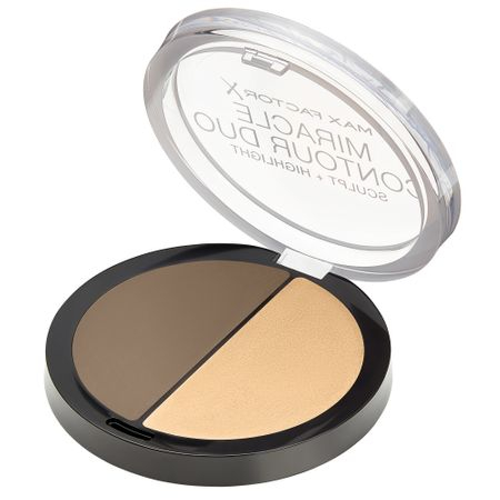 Paleta de conturare si iluminare Max Factor Miracle Contour Duo, Light/Medium, 11 g 1