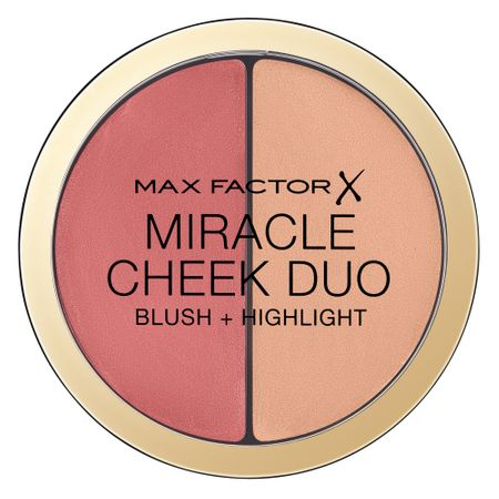 Paleta pentru pometi Max Factor Miracle Cheek Duo, 20 Brown Peach & Champagne, 11 g 0