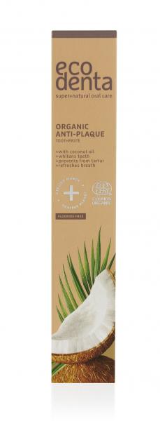 Pasta de dinti antiplaca cu ulei de cocos Cosmos Organic Ecodenta 75 ml [2]