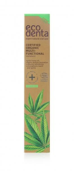 Pasta de dinti organica multifunctionala cu ulei de canepa Cosmos Organic Ecodenta 75 ml [2]
