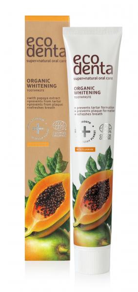 Pasta de dinti organica pentru albire cu extract de papaya Cosmos Organic Ecodenta 75 ml [1]