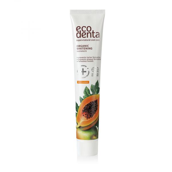 Pasta de dinti organica pentru albire cu extract de papaya Cosmos Organic Ecodenta 75 ml [0]