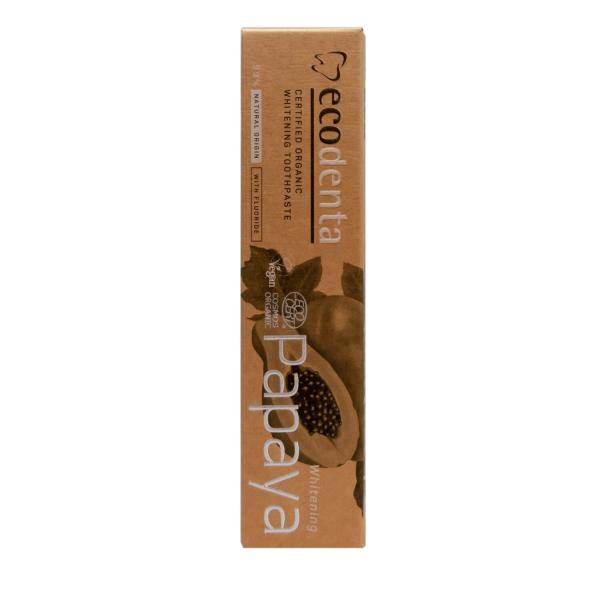Pasta de dinti pentru albire cu extract de papaya Cosmos Organic Ecodenta 100ml 2