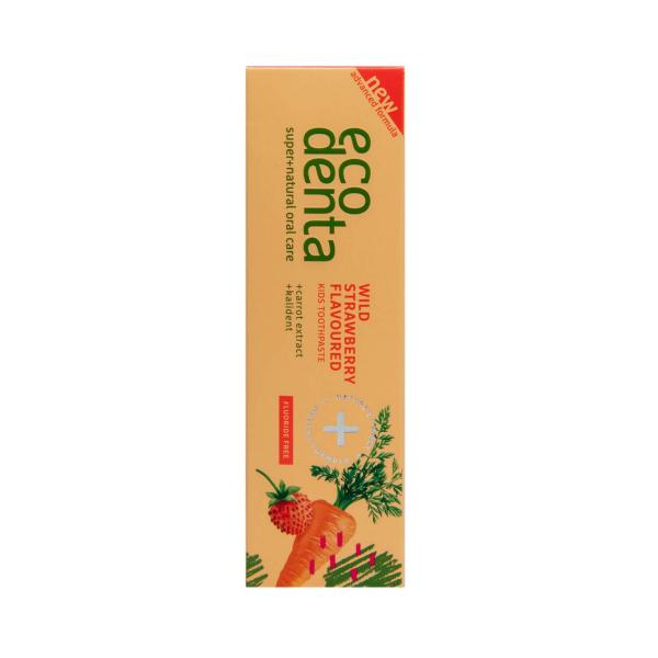 Pasta de dinti pentru copii cu aroma de capsuni si morcov Ecodenta 75ml 2