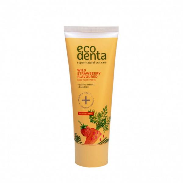 Pasta de dinti pentru copii cu aroma de capsuni si morcov Ecodenta 75ml 0
