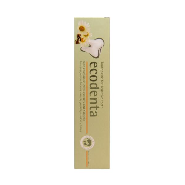 Pasta de dinti pentru dinti sensibili cu extract de musetel cuisoare si Kalident Ecodenta 100ml 2